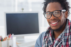 Portrait on a creative business worker Royalty Free Stock Photos
