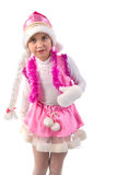 Portrait Of Cristmas Little Girl. Royalty Free Stock Photos