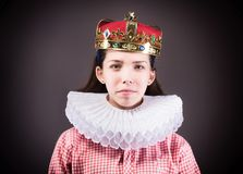 Portrait of the crowned girl. Royalty Free Stock Photos