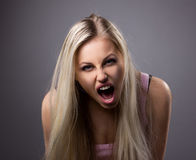 Portrait of cryed young woman Royalty Free Stock Photos