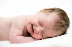 Portrait of crying baby Stock Photo