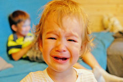 Portrait of a crying baby Royalty Free Stock Photo