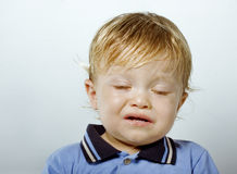 Portrait of a crying boy Royalty Free Stock Photography