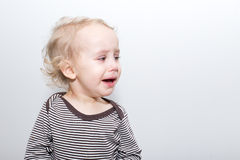 Portrait Of Crying Boy Stock Photography