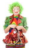 Portrait of a crying female clown royalty free stock image