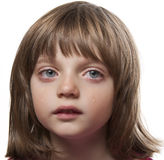 Portrait of a crying little girl Stock Photos