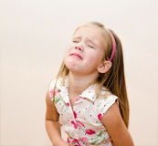 Portrait of crying little girl Stock Photography