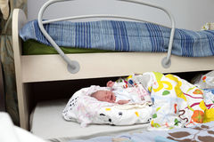 Portrait of crying newborn baby boy Royalty Free Stock Image