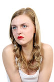 Portrait of the crying woman Royalty Free Stock Images