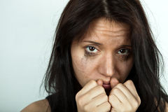 Crying young woman Stock Photo