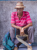 Portrait of a Cuban man Stock Photos