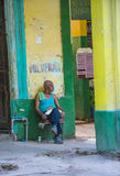 Portrait of a Cuban man Stock Photography