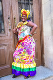 Portrait of cuban woman in Havana, Cuba Stock Image
