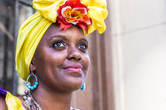 Portrait of cuban woman in Havana, Cuba.  Stock Photo