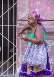 Portrait of a Cuban woman Royalty Free Stock Photos