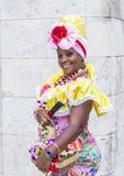 Portrait of a Cuban woman Stock Photography