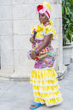 Portrait of a Cuban woman Royalty Free Stock Images