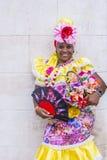 Portrait of a Cuban woman Stock Images