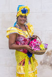 Portrait of a Cuban woman Stock Images