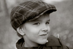 Portrait of cunning little boy Stock Photo