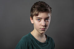 Portrait of a cunning teenage boy Royalty Free Stock Photo