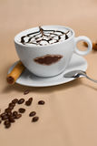 Portrait of cup of tasty coffe. Image of cup of tasty coffe Royalty Free Stock Image