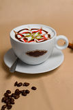 Portrait of cup of tasty coffe. Image of cup of tasty coffe Royalty Free Stock Images
