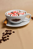Portrait of cup of tasty coffe. Image of cup of tasty coffe Stock Photography