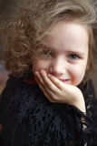 Portrait of curly girl Royalty Free Stock Photos