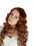 Portrait of curly long-haired girl Stock Image