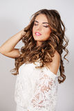 Portrait curly woman Stock Photo