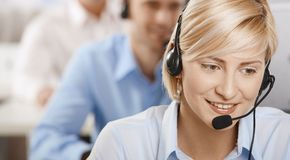 Portrait of customer service operator Stock Photos