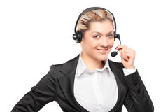 Portrait of a customer service operator Stock Photos