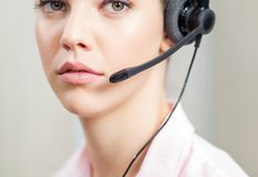 Portrait Of Customer Service Representative Royalty Free Stock Images