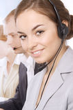 Portrait of customer service representatives Stock Images