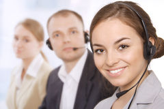Portrait of customer service representatives Stock Image