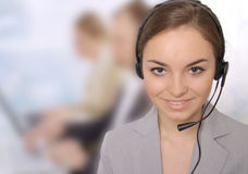 Portrait of customer service representatives Stock Photos