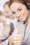 Portrait of customer service representatives Stock Photography