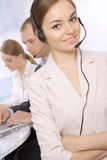 Portrait of customer service representatives Stock Photo