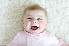 Portrait of cute adorable newborn baby child Royalty Free Stock Photo
