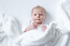 Portrait of cute adorable newborn baby child Royalty Free Stock Images