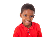 Portrait of a cute african american little boy smiling, isolated Stock Images