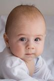 Portrait of cute, alert infant Royalty Free Stock Photo