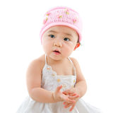 Portrait of cute Asian baby girl Royalty Free Stock Image