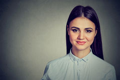 Portrait of a cute attractive young woman royalty free stock image