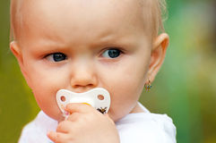 Portrait of Cute Baby Stock Image