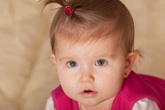 Portrait of a cute baby Royalty Free Stock Photos