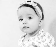 Portrait of cute baby. In BW Royalty Free Stock Photography
