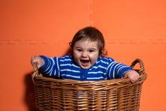 Baby boy having fun Royalty Free Stock Photography