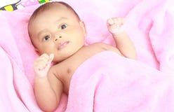 Portrait of cute baby boy Stock Photos